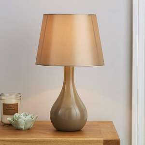Ruby Gloss Champagne Ceramic Table Lamp (more colours below) - 22cm x H 40cm - £4.90 Free C&C at Dunelm