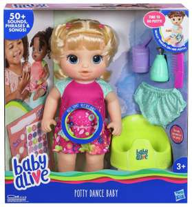 Baby Alive Potty Dance Baby: Talking Baby Doll (Blonde Hair) - £15 @ Argos