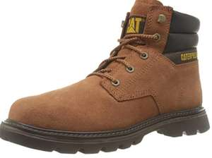 Caterpillar - Orange Leather 'Quadrate' Boots, £30.27 at Amazon (Size 9 only)