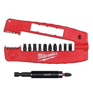 Milwaukee 12pc Shockwave Impact Duty Drive Guide Screwdriver Bit Set - £6.99 at MyMemory