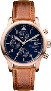 Ingersoll Men's The Hatton Watch with Blue Dial and Brown Leather Strap and lifetime warranty £105 delivered at Amazon