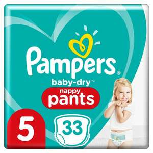 Pampers nappy pants - 33 Nappies per pack, sizes 4-7 only 50p at Sainsbury's
