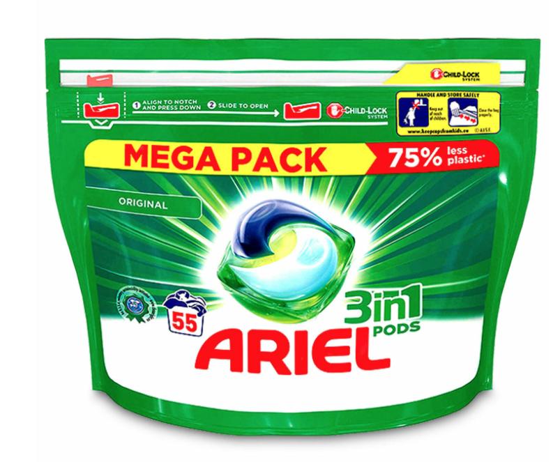 Ariel 3in1 pods mega pack 55 washes £5 @ Morrisons leyland