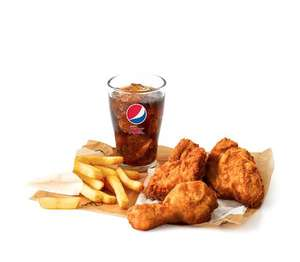 KFC the Colonel's meal for one £4.99 (3 piece chicken, fries & drink)