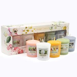Yankee Candle Gift Set, 5 Votive Scented Candles, Garden Hideaway Collection £6.99 (Prime) + £4.49 (non Prime) at Amazon