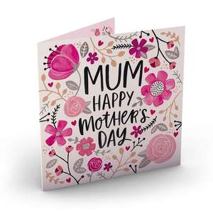 Mothers day Personalised photo A5 card for £1.59 (2nd class) / £1.69 (1st class) delivered at Card Factory
