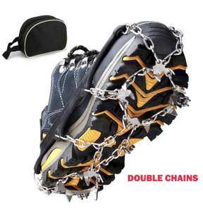 BROTOU Ice Cleat Crampons, 19 Teeth Claws Traction Snow Grips £3.99 (+£4.49 Non Prime) Sold by BROTOU-EU and Fulfilled by Amazon