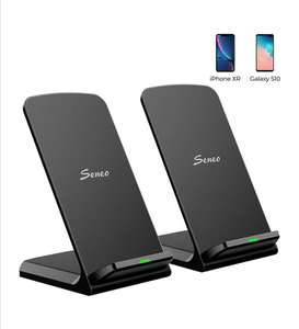 2 x Seneo 15w twin coil Fast Wireless Charger Stands, including USB C cables, £19.99 at Amazon Prime (+£4.49 NP) - Sold by SJH EU LTD / FBA