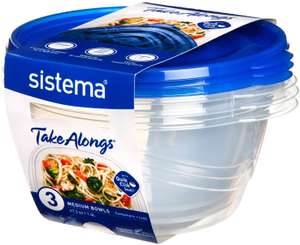 3 Pack Sistema Takealongs 1.4L Food Storage Containers £3.99 with Prime £8.48 Non Prime @ Amazon (More sizes available)