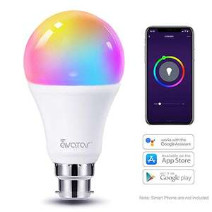 WiFi Smart Bulb B22 Bayonet Alexa Light Bulbs 8W=70W 800LM £10.99 prime / £15.48 nonPrime Sold by Avatar Controls and Fulfilled by Amazon