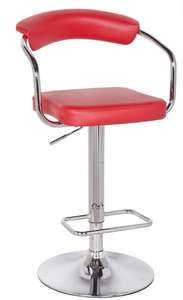 Houston Upholstered Adjustable Gas Lift Bar Stool - Red - £22.50 + Free click and collect @ Dunelm