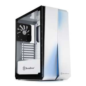 SilverStone Redline White Mid Tower Windowed PC Case £65.47 Del from Scan