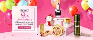 25% off Beauty and Cosmetics with voucher Code @ Unineed