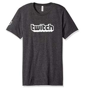 Twitch Logo Men's T-Shirt £3.50 for Amazon Prime members - Sold by Twitch and Fulfilled by Amazon