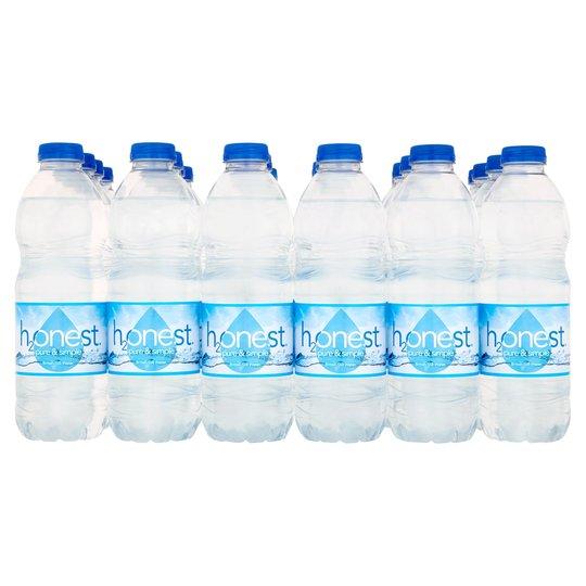 Honest 24 spring water bottles £2.85 at Tesco