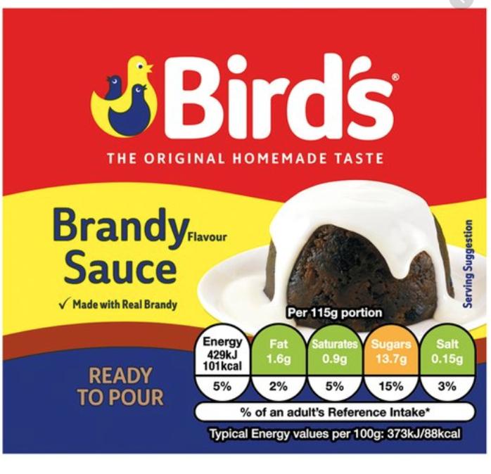 Bird's brandy sauce 25p bbe 12/20 @ BM store Liverpool