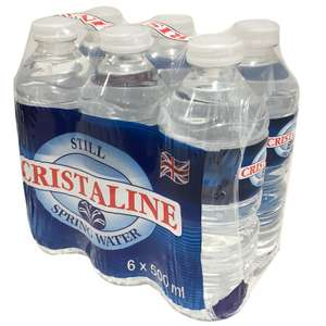 Cristaline 6 pk spring water 69p in stock at B&M Liverpool
