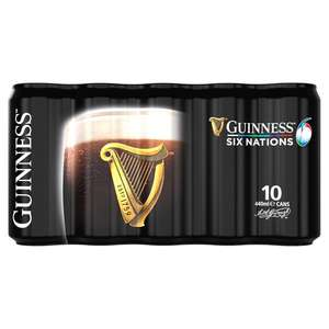 Guinness Draft 10x440ml Cans £8 (Instore and Online) @ Tesco