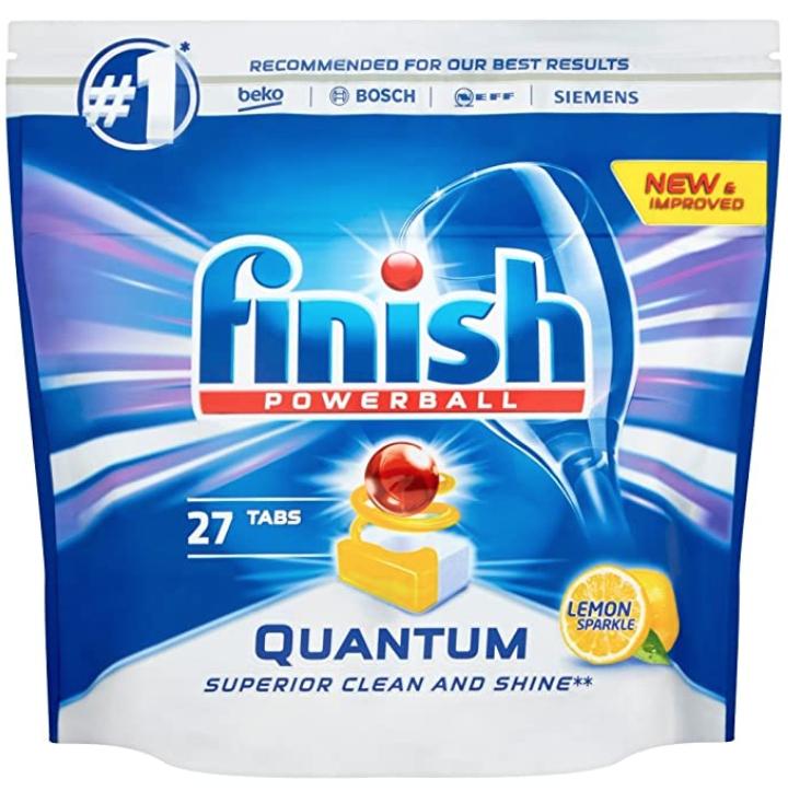 Finish Quantum Powerball Dishwasher Tablets, Lemon Sparkle, 8 x 27 (216 Tablets) £12 prime / £16.49 non prime @ Amazon