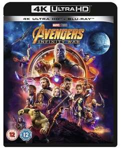 Pre-owned Avengers: Infinity War 4k Blu ray used £8 + £1.50 p&p at CEX