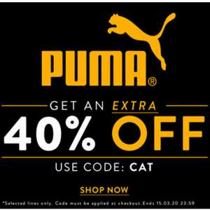 Extra 40% off already discount Puma Trainers Men's and Womens @ Get The Label