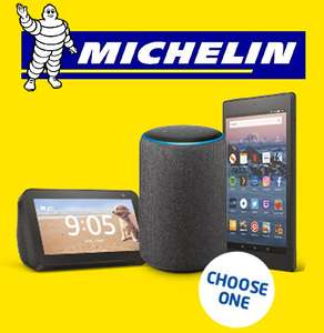 £50 off 4 Michelin Tyres and a Free Amazon Echo (3rd Generation) / Amazon Echo Show 5 / Amazon Fire HD tablet 16GB @ ATS Euromaster