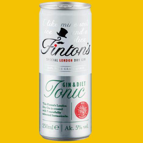 Lidl Finton's Gin & Diet Tonic 250ml 69p