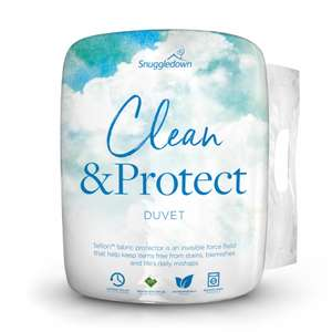 Snuggledown Clean & Protect Teflon™ Duvet 10.5 TOG SINGLE £12.99 / Double £15.99 / King £17.99 / Super King £19.99 @ Sleepseeker (Free P&P)
