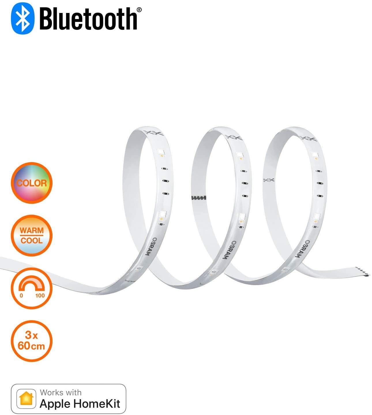 OSRAM SMART+ LED Stripe, Bluetooth LED Strip, dimmable, warm white to daylight180cm £18.68 @ Amazon (+£4.49 Non-prime)