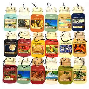 9 Assorted Cardboard Yankee Candle Car Jar Shaped Air Fresheners £8 (£7.60 For New Accounts) + Free Delivery @ Yankee Bundles
