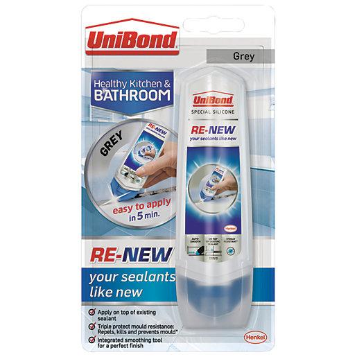 UniBond RE-NEW Silicone Sealant - Grey 100ml - Reduced to 70p @ Wickes