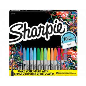 Sharpie Fine Permanent Markers Limited Edition Pack of 18 for £8.99 with Free Click and Collect (otherwise +£3.50 delivery) @ Ryman