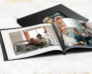Printerpix A4 Leather Window Photo Books From 20 Pages £4.79 @ Groupon (£5.99 Postage & Packaging)