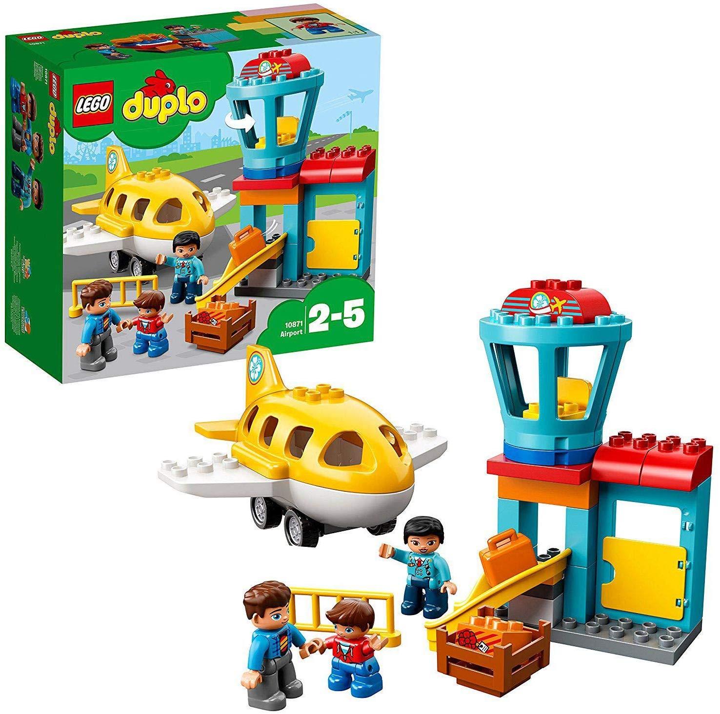 LEGO 10871 DUPLO Town Airport Building Bricks Set with Aeroplane £14.49 + £4.49 NP @ Amazon