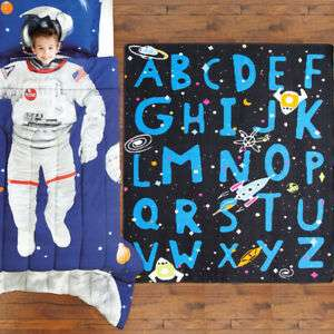 Kids Rug : Space Alpahabet - other designs available for boys and girls £16.96 @ therughouseuk Ebay