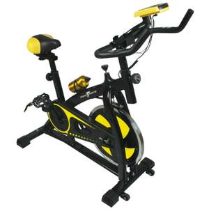 Nero Sports Exercise Bike Studio Cycle Indoor Training 12kg Spinning flywheel (5 Year Warranty) For £123.49 (Using Code) @ Ebay/first2save