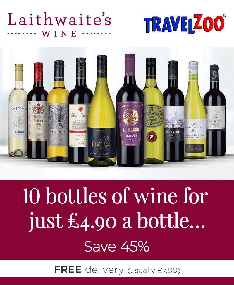 10 bottles of Laithwaites wine for £49 delivered (potentially 30% cashback for £3.43 a bottle)