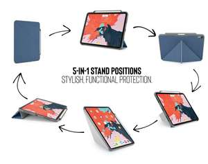 iPad Pro 11 blue origami case (and others available) £4.95 with code +£5.94 delivery @ Pipetto