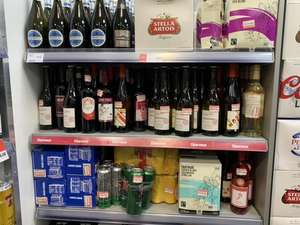Red/white wines minimum price reduced @Scotmid Newhaven