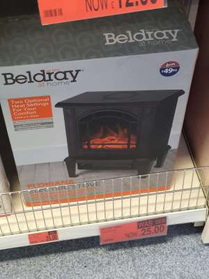Beldray Black Electric Heater Stove for £25 instore at B&M (Castleford)