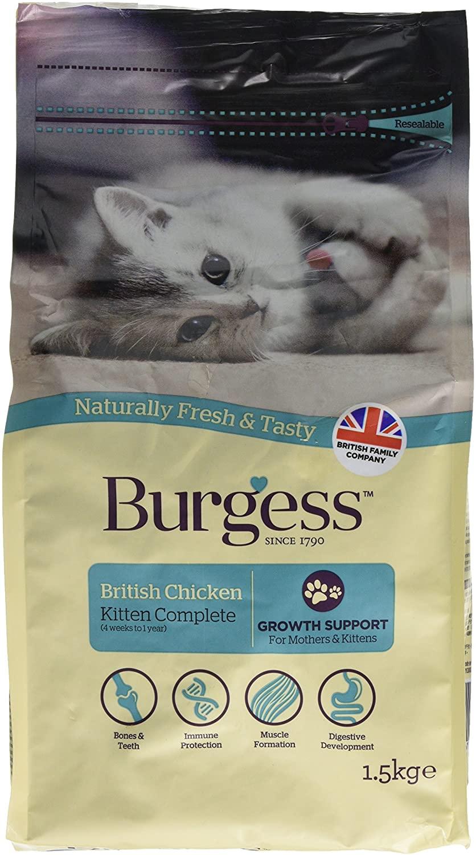 Burgess Kitten Food British Chicken 1.5kg (pack of 2) £6.06 + £4.49 NP @ Amazon