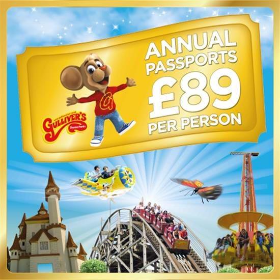 Gulliver's Annual Passport £89 @ Gullivers World