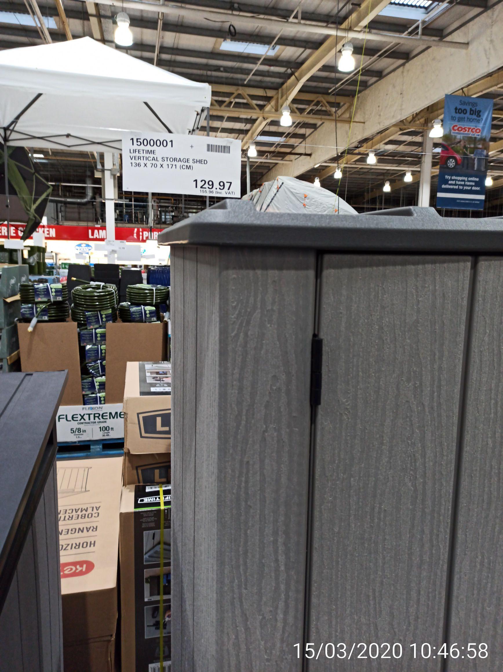 Lifetime Vertical Storage Shed £155.96 - Costco Glasgow