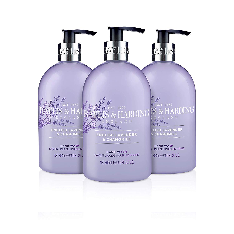 Baylis & Harding English Lavender & Chamomile / Pink Magnolia / Sensitive Hand Wash, 500 ml, Pack of 3 £6 (+£4.49 Non Prime) at Amazon