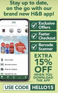 20% off + Extra 15% off when you download Holland and Barrett's App