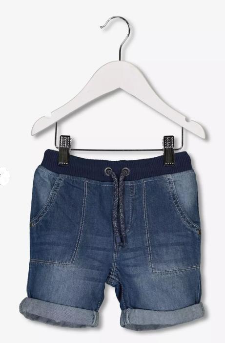 Blue denim rib waist kids shorts £1.80 Argos, free c+c