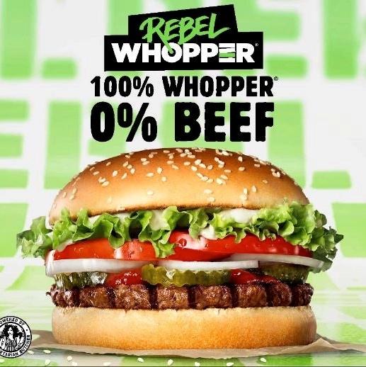 Rebel Mondays - Rebel Whopper £1.99 @ Burger King via app
