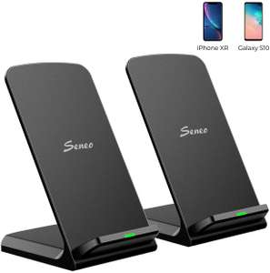 Seneo 2 Pack Wireless Charger Stand, 15W USB-C Wireless Charger - £16.99 (Prime) £21.48 (Non Prime) @ Sold by SJH EU LTD and FBA