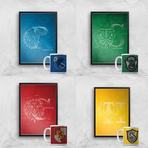 Harry Potter Mug & A4 Print - £8.99 Each + Free Delivery @ IWOOT