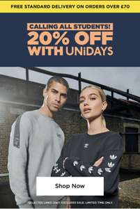JD 20% off UNIDAYS for Students